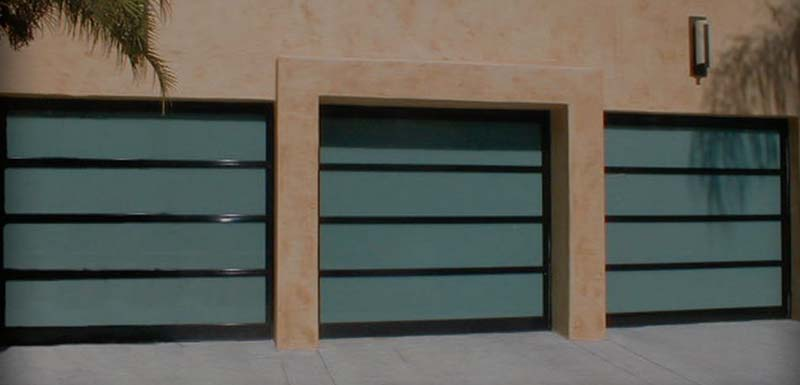 Glass garage doors for Tre bay garage